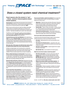 Does a closed system need chemical treatment?