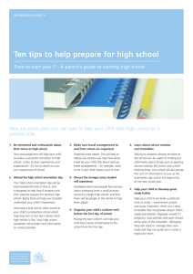 Ten Tips to Help Prepare for High School