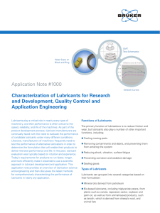 Application Note #1000 Characterization of Lubricants for Research