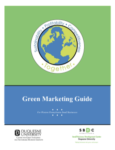 Green Marketing - Duquesne University