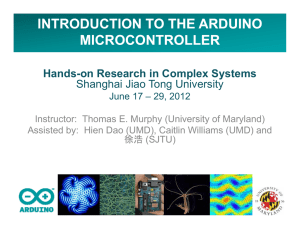 introduction to the arduino microcontroller - Hands