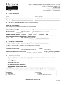Off-Campus Permission Form