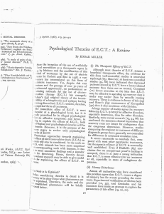 Psychological Theories of E.C.T.: A Review