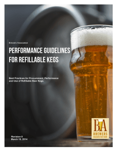 Performance Guidelines for Refillable Kegs