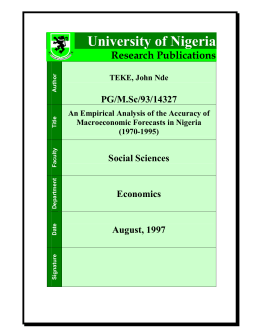 - University Of Nigeria Nsukka
