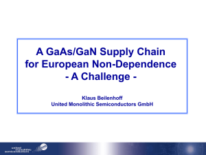 GaAs/GaN Supply Chain
