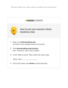 How to join your teacher`s Khan Academy class