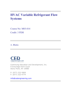 HVAC Variable Refrigerant Flow Systems