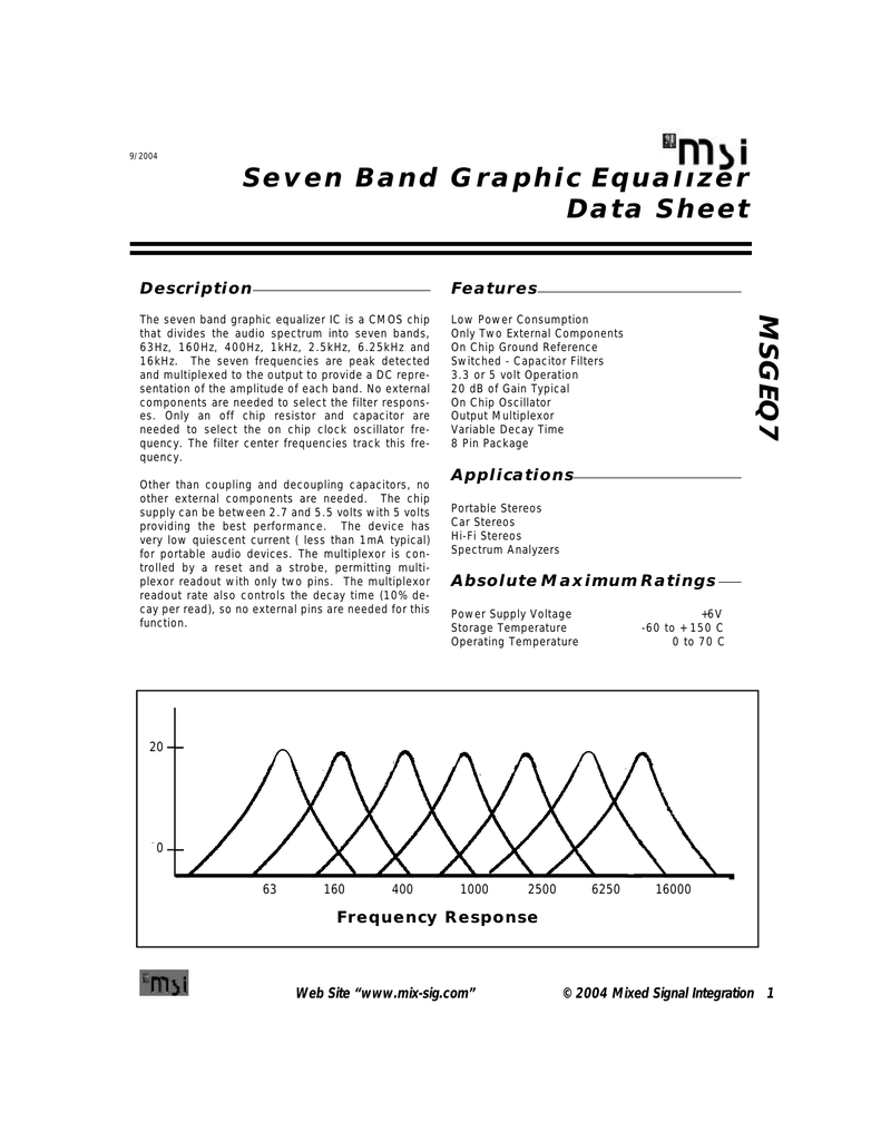 Bands Stereo Graphic Equalizer Circuit Diagram
