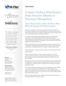 Cosmetic Products Manufacturer Finds Attractive Solution - M