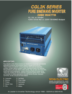 CGL2K SERIES PURE SINEWAVE INVERTER