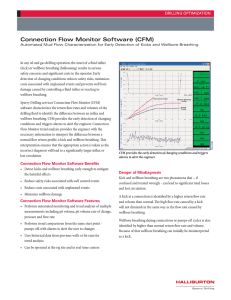 Connection Flow Monitor Software (CFM)