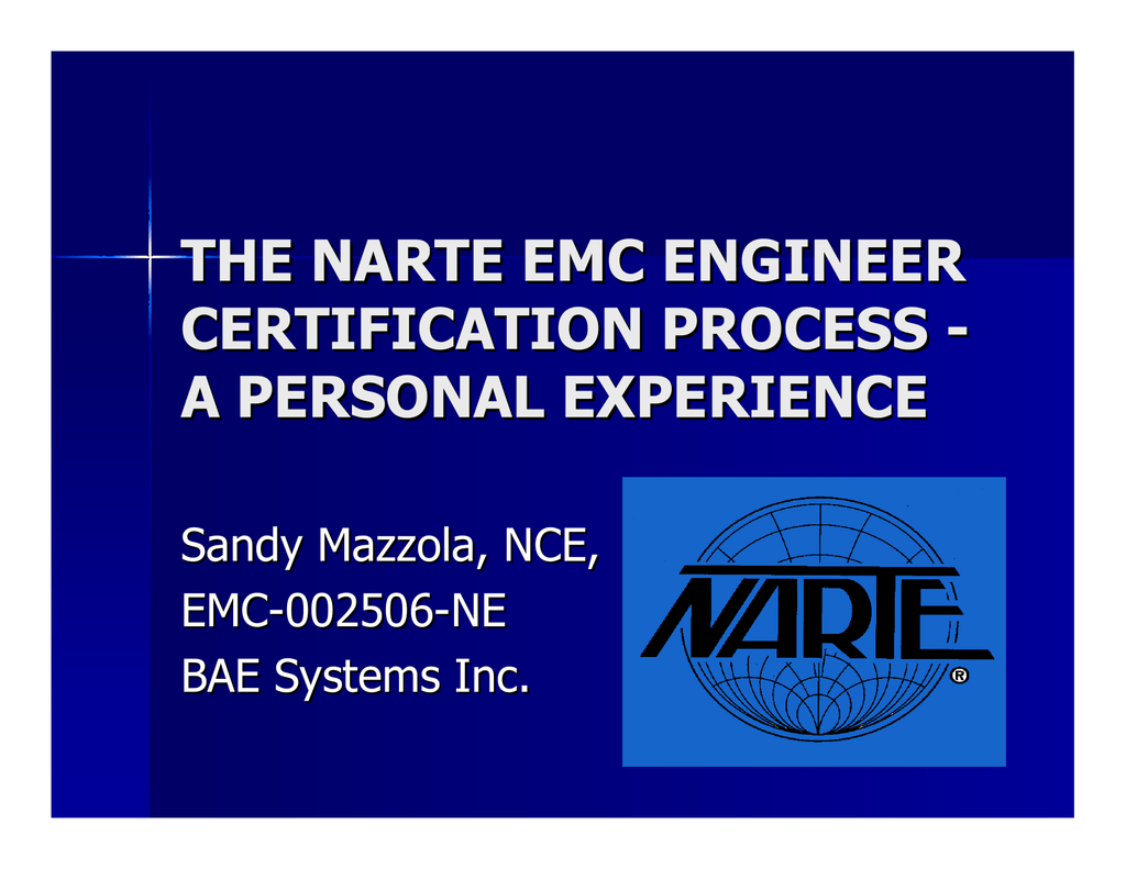 The Narte Emc Engineer Certification Process