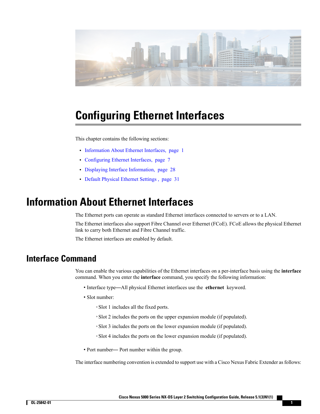 Configuring Ethernet Interfaces