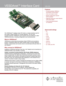 VESDAnet™ Interface Card