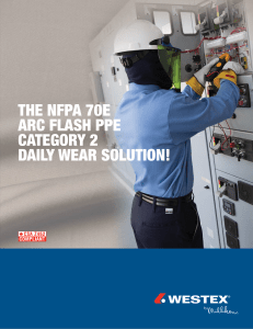 THE NFPA 70E ARC FLASH PPE CATEGORY 2 DAILY WEAR
