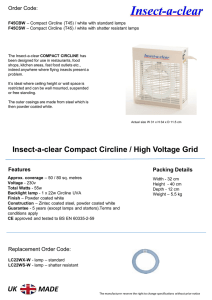 Insect-a-clear Compact Circline / High Voltage Grid UK MADE