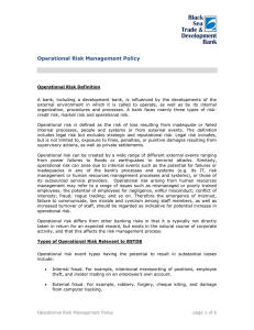 compliance and operational risk management policy