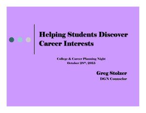 Helping Students Discover Career Interests