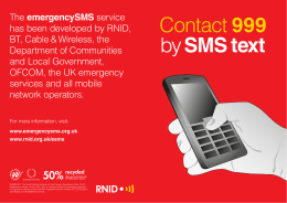 Contact 999 by SMS text