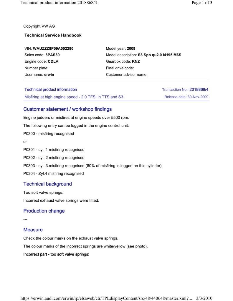 Customer statement / workshop findings Customer statement