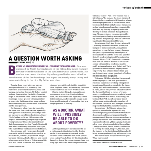 A QUESTION WORTH ASKING - Dartmouth Medicine Magazine