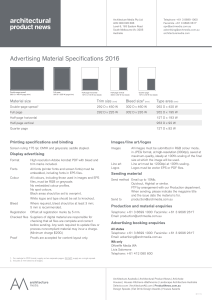Advertising Material Specifications 2016