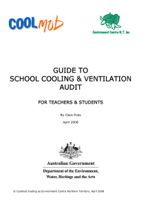 School Cooling and Ventilation Audit