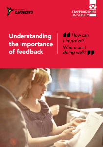 Understanding the importance of feedback