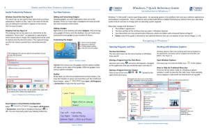 Windows 7 Quick Reference Guide