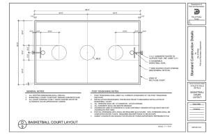 Standard Construction Details BASKETBALL COURT LAYOUT D 9
