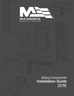 Mid-America Installation Guide - Shutters and Trim