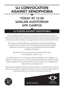uj convocation against xenophobia