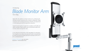 Blade Monitor Arm