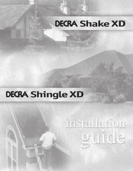 Estimating Sheet Decra Shingle Xd 174