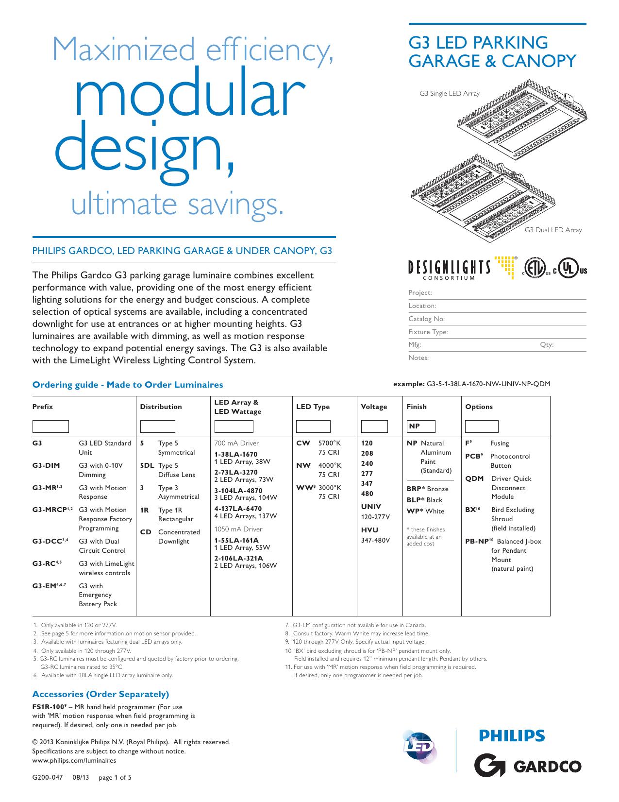 philips gardco g3 parking garage spec sheet rh studylib net Touch Lamp Sensor Wiring Diagram Touch Lamp Sensor Wiring Diagram