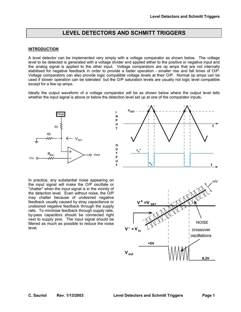 Level Detectors And Schmitt Triggers The Circuit Schematic For Lm339 Quad Voltage Comparator 018308902 1 4d66c3beba61c34b45c99d63b12e6eb7