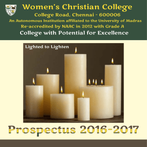 programs offered - Womens Christian College
