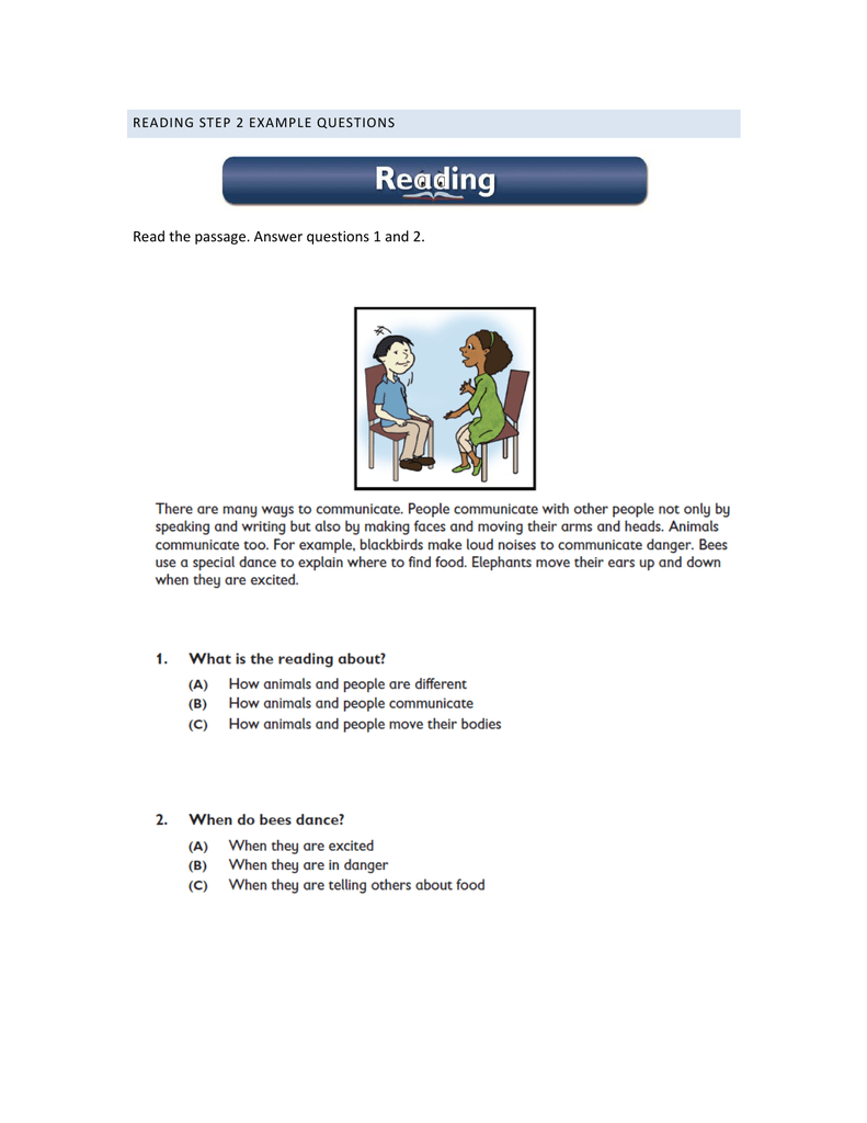 - Read The Passage. Answer Questions 1 And 2.