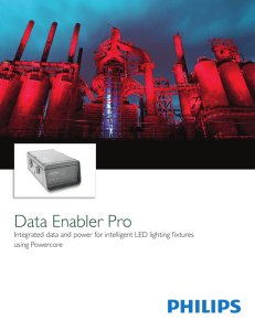 Data Enabler Pro - Philips Color Kinetics