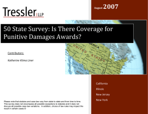 50 State Survey: Is There Coverage for Punitive Damages Awards?