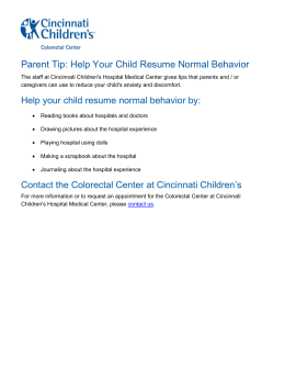 Parent Tip: Help Your Child Resume Normal Behavior