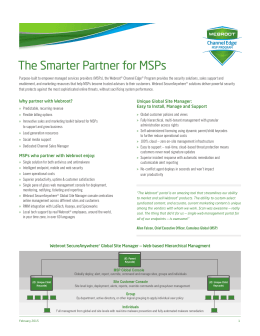 The Smarter Partner for MSPs