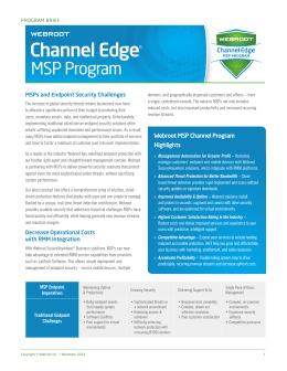 Channel Edge ® MSP Program