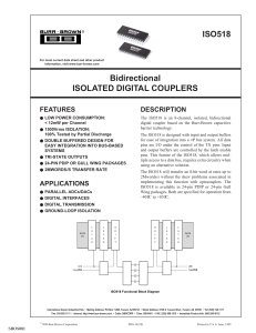Bidirectional Isolated Digital Couplers