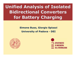 Unified Analysis of Isolated Bidirectional Converters for Battery