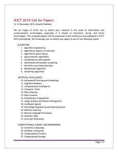 ICICT 2015 Call for Papers - Institute of Business Administration