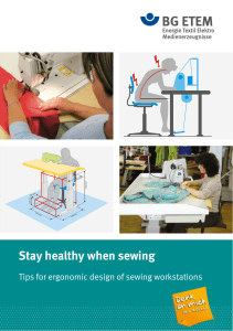 Stay healthy when sewing