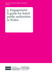 3. Engagement: A guide for listed public authorities in Wales