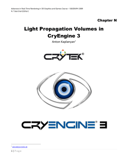 Light Propagation Volumes in CryEngine 3